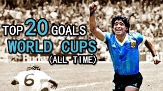 Download TOP 20 GOALS ● WORLD CUPS Video