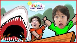 Download ROBLOX Shark Bite! Let's Play with Ryan's Family Review! Video