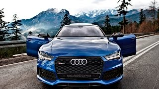 Download 2017 Audi RS7 Performance 605hp rocking the Tatra Mountains Video