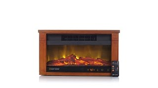Download Heat Surge Mini Glo Widescreen Fireplace Heater Video