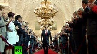 Download Full Video: Vladimir Putin's presidential inauguration ceremony in Kremlin Video