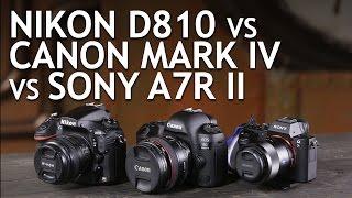 Download Camera Comparison: Nikon D810, Canon 5D Mark IV, Sony A7R II Video