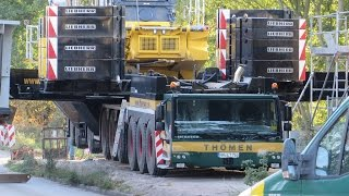 Download Soeren66 - Mobilkran LIEBHERR LTM 1750 von Thömen bei einer Brückenmontage, Teil 1 Video