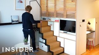 Download How This Tiny Apartment Easily Combines Home And Office Space Video
