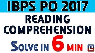 Download Reading Comprehension | Solve In 6 Min | English | IBPS PO 2017 Video