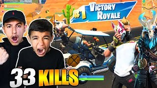 Download LITTLE BROTHER WINS HIS FIRST SEASON 5 FORTNITE GAME! HE CARRIES ME! Video