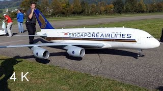 Download Gigantic RC Airbus A380 Singapore Airlines Video