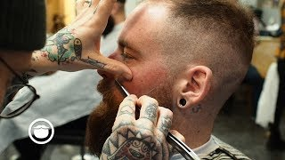 Download Master Barber Gives Advice on Thinning Hair with Haircut Video