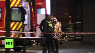 Download France: 2 dead, 5 injured as police raid Saint-Denis for prime suspect of Paris attacks Video