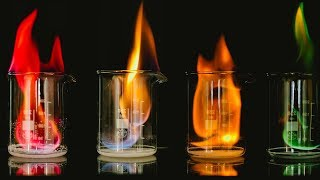 Download The rainbow flame demonstration Video