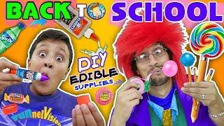 Download DIY EDIBLE SCHOOL SUPPLIES! Teacher vs Supplies! FV Back to School Skit Video