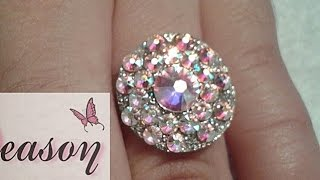 Download como hacer joya de acrilico con cristales paso a paso / aro con cristales para anillo Video