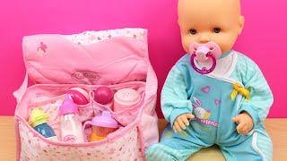 Download Bolso Cambiador para la bebé | La muñeca Bebé Nenuco come papilla, hace pipí y le cambio el pañal Video