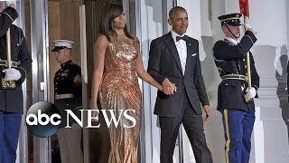 Download Michelle Obama's Fashion at Final State Dinner Video