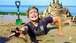 Download I Spent the Night in a Sandcastle & It was a HUGE Mistake... (24 Hour Challenge) Video