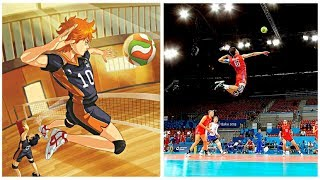 Download Haikyuu VS Real Life | Best Volleyball Actions (HD) Video