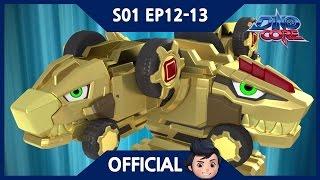 Download DinoCore   Series   A Brand New Golden Ultra D Buster   Dinosaur Robot   Season 1 EP12~13 Video