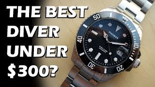 Download Phoibos Great White Diver's 300M Review (PY007C) - The BEST Dive Watch Under $300? - Perth WAtch #75 Video