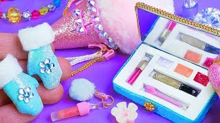 Download 7 Barbie Hacks and Crafts! ~ Barbie Frozen mittens, Ice Cream bag, Cosmetics REALLY WORKS Video