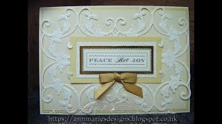 Download 363.Cardmaking Project: Anna Griffin Elegant Ivory Christmas Card Video