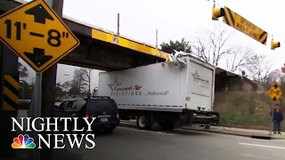 Download This Bridge Continues Wreaking Havoc on Unsuspecting Truck Drivers | NBC Nightly News Video