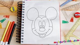 Download How to draw Mickey Mouse - Easy step-by-step drawing lessons for kids Video
