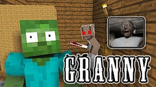 Download Monster School: GRANNY HORROR GAME CHALLENGE - Minecraft Animation Video
