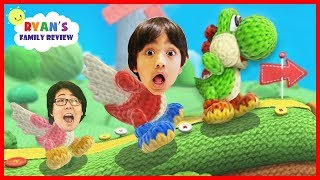 Download Surprised Yoshi Eggs! Let's Play Yoshi's Wooly World with Ryan's Family Review Video