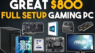 Download Great $800 Full Setup Gaming PC Build 1080p Gaming PC January 2017 Video