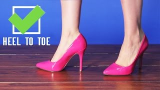 Download How To Walk In Pointy High Heels Tutorial from AMICLUBWEAR! Video