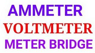 Download Ammeter, Voltmeter, Meter bridge Video
