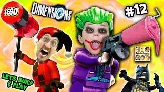 Download Lets Build & Play LEGO Dimensions #12: GLITCHY JOKER CHASE & Harley Quinn Steals a Slurpie Slushie! Video