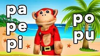 Download Sílabas pa pe pi po pu - El Mono Sílabo - Videos Infantiles - Educación para Niños # Video
