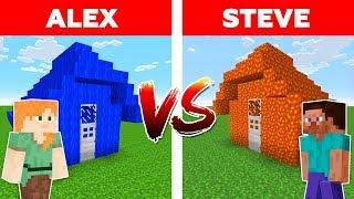 Download MINECRAFT - ALEX vs STEVE! WATER HOUSE vs LAVA HOUSE / Minecraft Animation Video