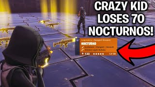 Download Crazy Noob Loses 70 Nocturnos! (Scammer Gets Scammed) Fortnite Save The World Video