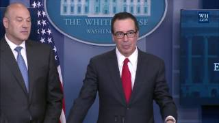 Download Briefing with Secretary of the Treasury Steven Mnuchin and National Economic Director Gary Cohn Video