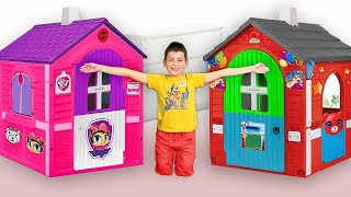Download Max play with funny Playhouses toys - compilation from Smile Toy Review Video