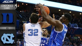 Download Duke vs. North Carolina Condensed Highlights | 2018-19 ACC Basketball Video