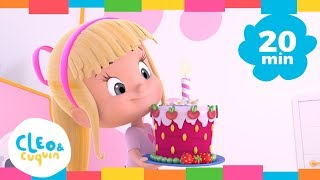 Download HAPPY BIRTHDAY and More Songs. Cleo & Cuquin. Nursery Rhymes I Songs For Kids (20 Minutes) Video