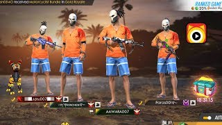 Download Free Fire Live || GLOBAL SQUAD SCORE 4400++ || HEROIC RUSH RANK GAMEPLAY Video