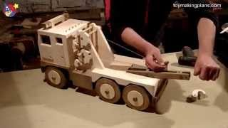 Download Wood Toy Plans - Big Rig Wrecker Truck Video