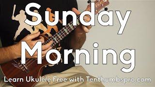 Download Sunday Morning - Maroon 5 - Ukulele Tutorial - Super Easy Beginner Song - Chordal Fills tutorial Video