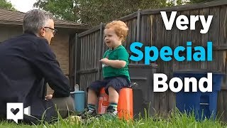 Download 2-year-old and garbage man's special bond is priceless Video