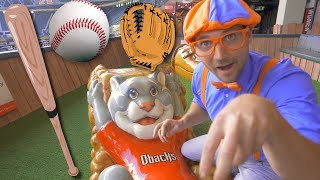 Download Blippi at the Baseball Stadium | Sports and Outdoor Activities for Kids Video