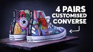 Download All Star Converse Customisation ⚡️#customisation #converse Video