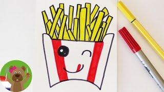 Download KAWAII PATA DIY tekenen | Schattige FRIETJES voor uitnodigingen en verjaardagskaarten zelf maken Video