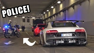 Download Supercars Go CRAZY in a Tunnel!! - Police, Launches, Burnouts & Accelerations! Video