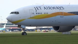 Download Close Up Big Aircraft Taking Off Schiphol Airport Video