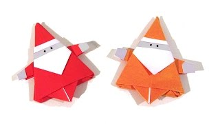 Download Christmas Origami Santa Claus - How to make an easy origami Santa Claus Video