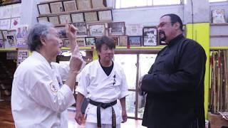 Download Steven segal came to Okinawa to visit Tetsuhiro Hokama Video